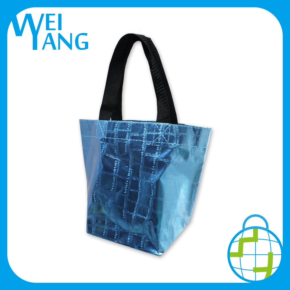 Style waterproof recycled Xmas gift PP Non Woven hand eco lunch school book bag
