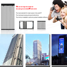 Transparent Video Wall Screen Low Weight Large Led Media Facade Transparent Led Screen