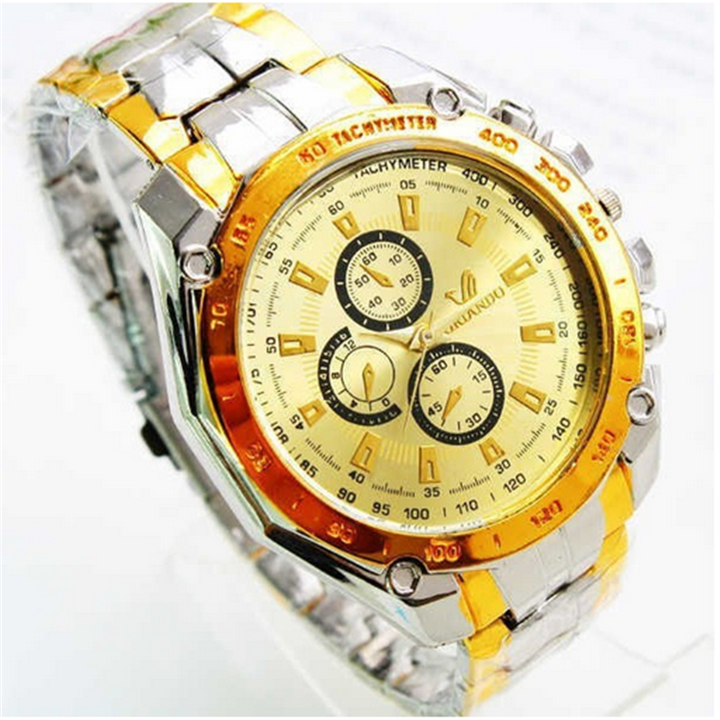 Hot sale Best fashion stainless steel band chronograph men watches 2016 Orlando Alloy Business wrist watch wholesale