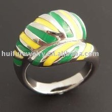 stainless steel individual enamel ring