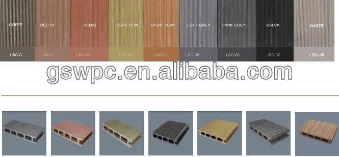 redwood color outdoor wpc decking