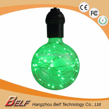 led RGB bulb G125 Globe E27 220v decorative Vintage bulbs rgb led full color rotating lamp