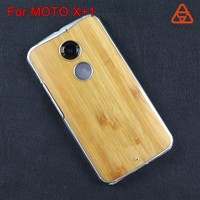 new product clear wood cell phone case wholesale best price supplier for MOTO X+1/Victara/XT1097/MOTO X
