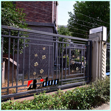 Galvanized steel h fence post panels with desigh