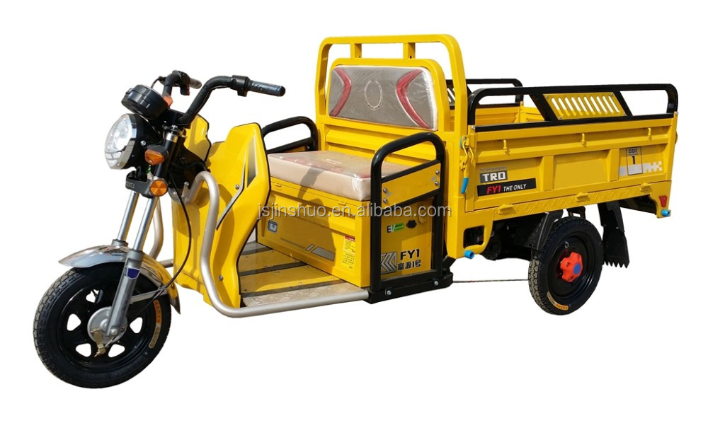 2016 New Electric Three Wheel Tricycle Cargo Bike With Open Wagon Box