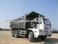 SINOTRUK HOVA 6x4 371hp EURO II 60t-70t heavy duty mine used dump truck with mining tipping body(specialize for using mining)