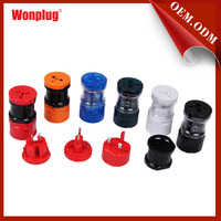Alibaba china supplier all in one world travel adapter with 4 kinds of plug type (UK, Euro, AUS,USA) and universal socket