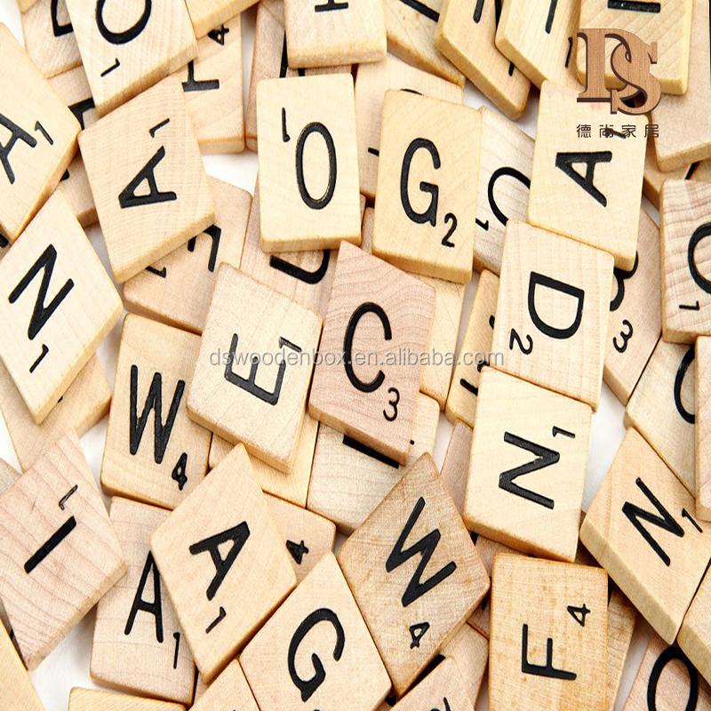 104 negro letras y n meros de letras del alfabeto de madera azulejos scrabble artesan a folclore - Letras scrabble madera ...