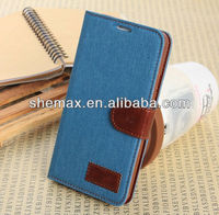Wallet Pouch Jeans Stand Leather Case For Samsung Galaxy Note 3 Note III N9000 Credit Card Holders Purse Flip Cover