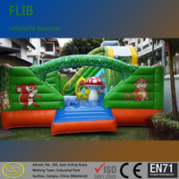 0.6 mm ~0.9 mm PVC tarpaulin indoor outdoor inflatable bouncer castle inflatable jumper