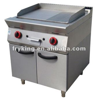 Stainless Steel Gas Griddle with Cabinet