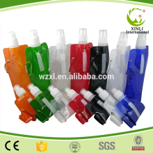 Wholesale BPA Free foldable water bottles 480ml Collapsible water bottle Foldable drinking Bottle
