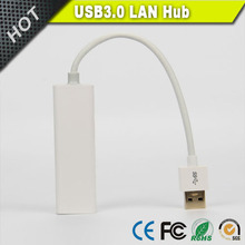 3-Port USB 3.0 Hub with 1 RJ45 10 / 100 / 1000 Gigabit Ethernet Lan Wired Network Adapter