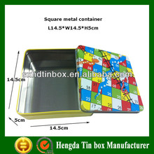 New design square metal tin cans