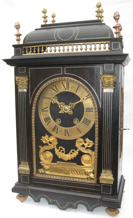 Authentique antique French Religieuse table clock