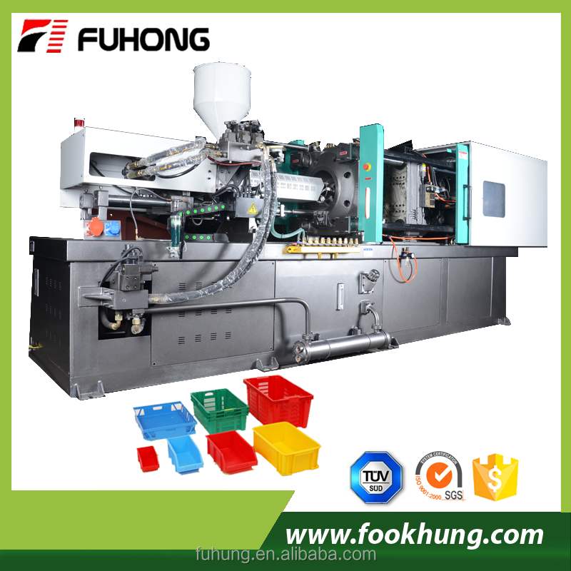 Ningbo fuhong 500ton full automatic plastic vegetable fruit crate injection molding machine price