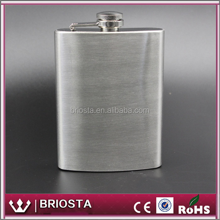 Wholesale Customized No Monogram Stainless Steel Hip Flask