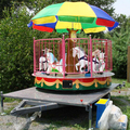 Cheap Sale Outdoor Playground Kiddie Carousel Electric Carnival Rides on Trailer