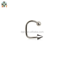 316l Stainless Steel Antiallergic Circular Barbell Lip Ring