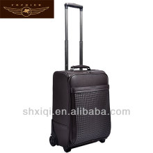 2014 soft pu eva trolley case for mans