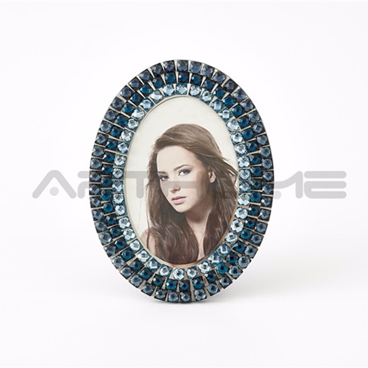 Wholesale Transparent Clear Glass Glass Curved Photo Frame