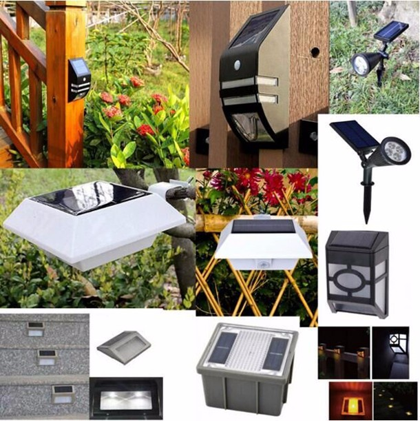 New LED Stainless Steel Solar Garden Lights Stair Lights Fence Wall Lights