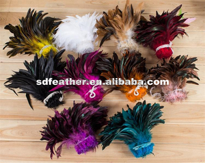factory directory mixed color cock tail bronze feather short rooster tail feathers