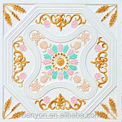 600x600 colorful GRG artistic gypsum ceiling Board