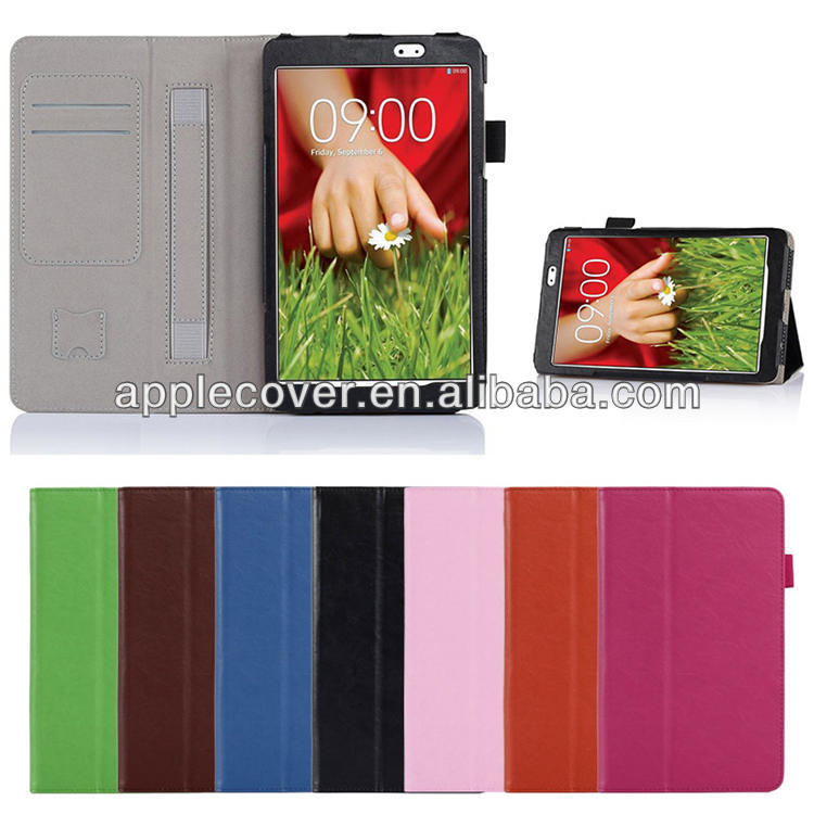 High Quality Wallet Stand Case for LG G Pad 8.3 with Noble Stylus Pen
