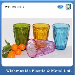 Newest design Europe-pack 85ml food grade FDA BPA Free SEDEX ps disposable color plastic cup