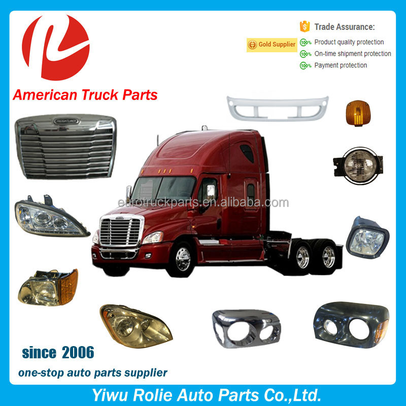 Freightliner Columbia Truck Parts Grille Led Lights Lamp Bumper Mirror American Truck Spare Parts for Freightliner Parts