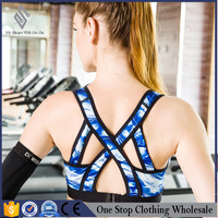 Custom make sey strap sports bra with removable bust cup inside yoga wear Quality Assured Supplier's Choice