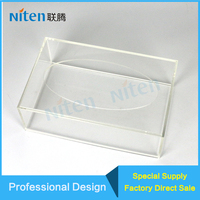 Hotel/Restaurant/Dining Room/Eatery Facial Tissue/Toilet Paper Holder Stand Clear Acrylic Napkin Holder