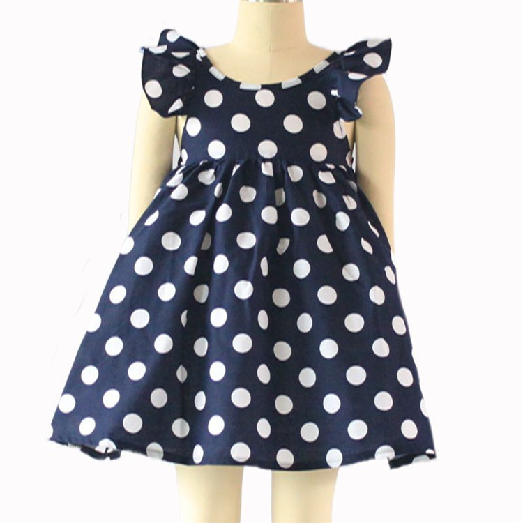 Hot selling children medium sleeveless latest design baby frock