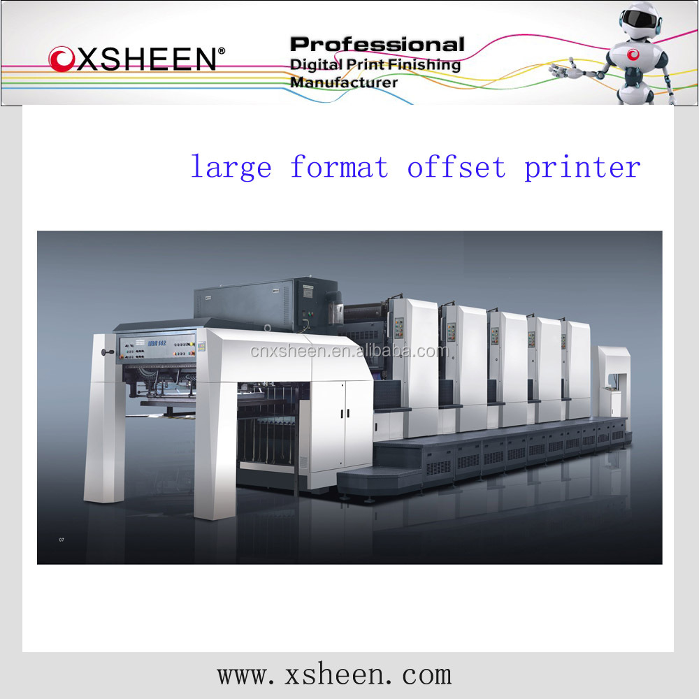shanghai large format 4 color offset printing machine