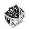 6MM Stainless steel vintage antiqued silver punk style ring fashion ring steam punk jewelry 6240031