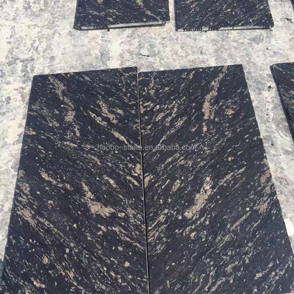 China Quarry Seller Natural Stone Cheap price Black Titanium Granite floor Slabs& Tiles 60x60 For Kitchen And Bathroom