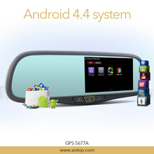 Car DVR Camera Built-in Android 5 Inch Bluetooth Rearview Mirror GPS Navigation