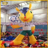 Popular Inflatable Brazil World Cup Mascot, Inflatable Fuleco Character Model