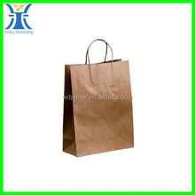 Yiwu New Arrived Brown Clothing Boutique Shopping Paper Bag Kraft