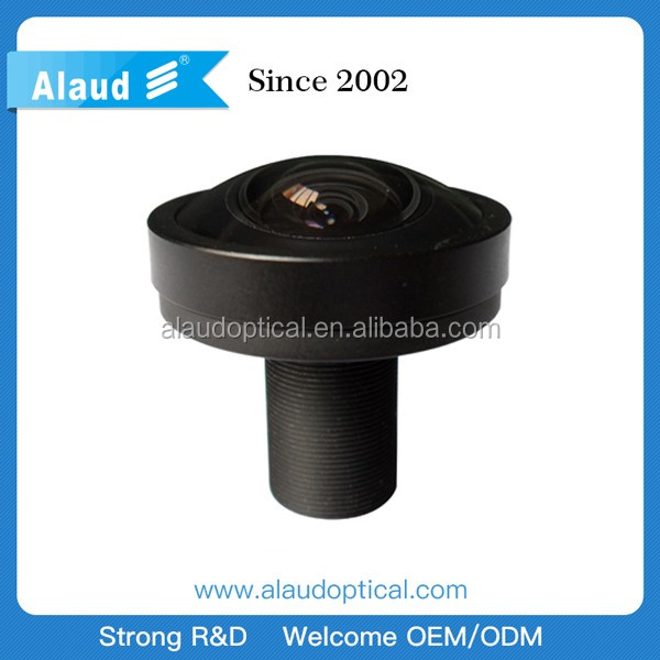 1.08mm 185 degree 5mp m12 fisheye lens for optical borehole imager