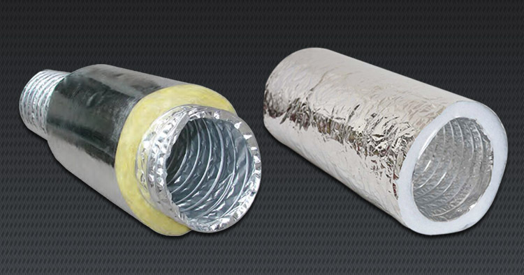 Fiberglass insulated flexible air aluminum flexible duct for Fiberglass insulation sizes