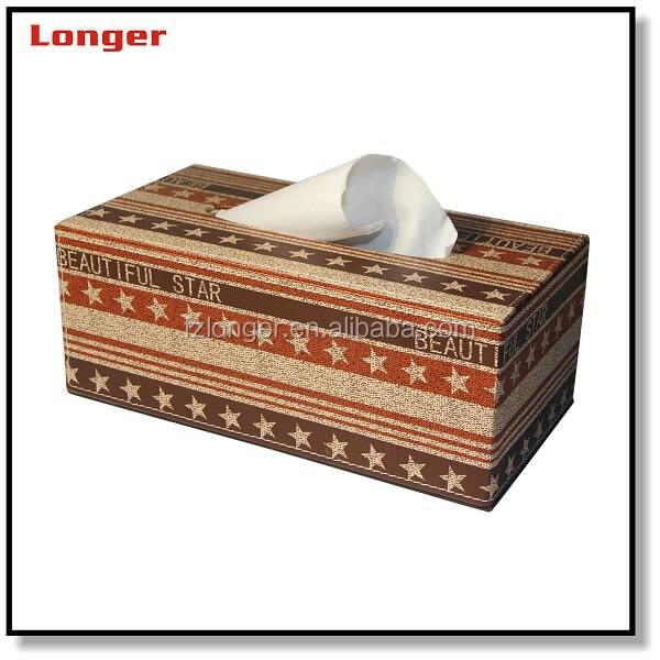 Elegant faux leather tissue boxes hot sale leather fancy tissue box PU cheap napkin box