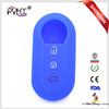 Silicone rubber key fob shell for FIAT 500 Panda Punto Bravo flip remote key covers