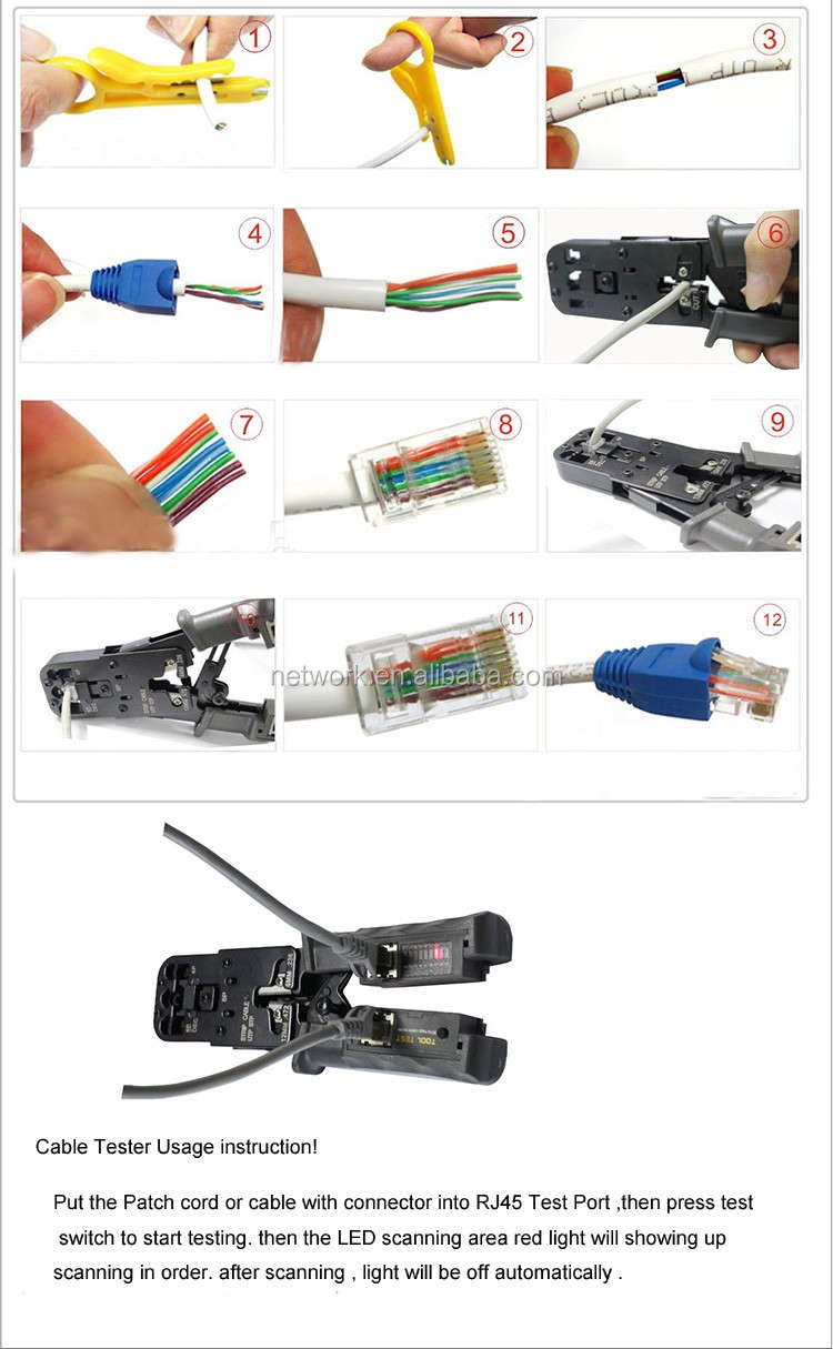 nt link network rj45 rj12 rj11 crimp tool with cutter and cable tester buy crimp tool with. Black Bedroom Furniture Sets. Home Design Ideas