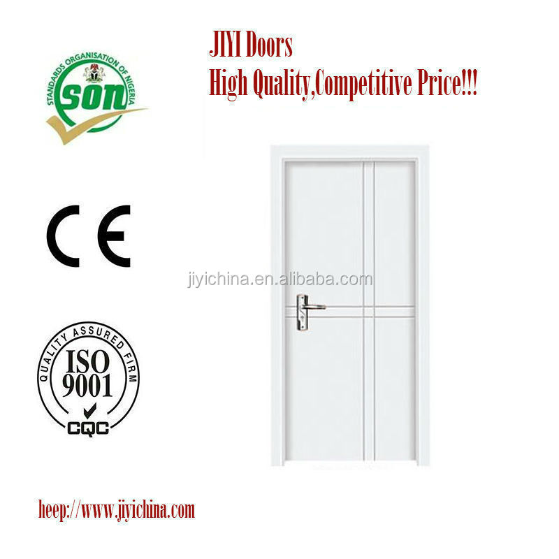 White Indoor Interior MDF PVC wooden single main door design