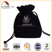 2016Hot custom velvet drawstring pouch bag