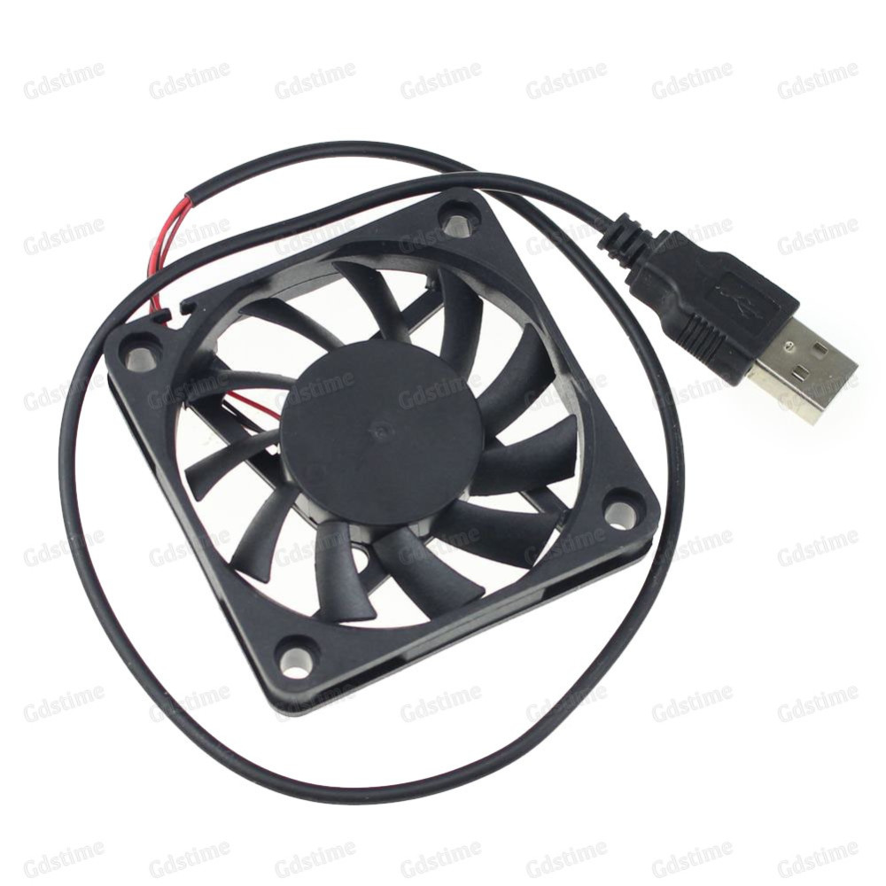 DC 5V USB Black Plastic VR TV Box Small Brushless Cooling Fan