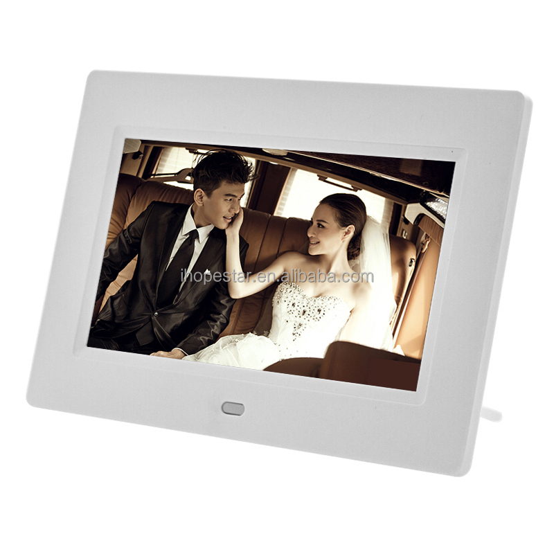 CE RoHS certificates approved 7 inch digital picture photo frame for commercial gift