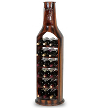 Unique bottle shape wine display stand storage shelf cabinet floor display stand rack for beer whiskey champagne